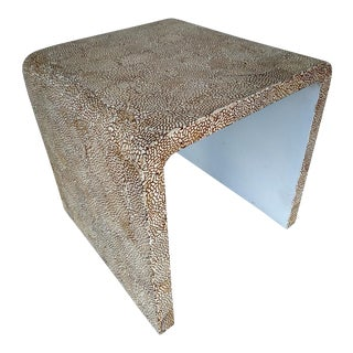 Vintage Coconut Shell Covered Waterfall End Table
