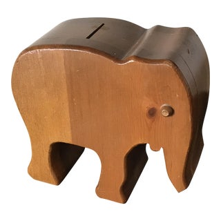 Wooden Elephant Piggy Bank For Sale