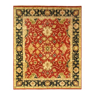 Pasargad Rust Fine Hand-Knotted Sultanabad Rug- 12' X 15' For Sale