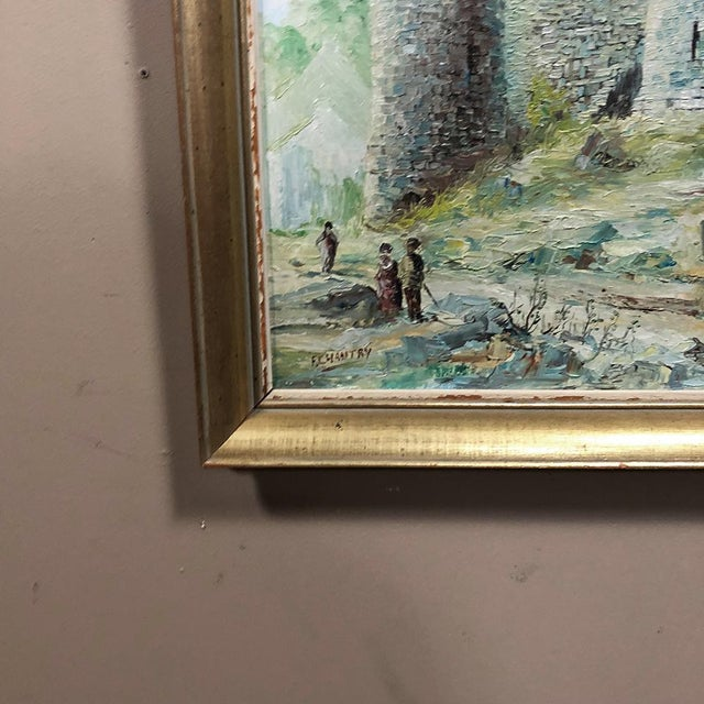 White Framed Oil Painting on Canvas For Sale - Image 8 of 11