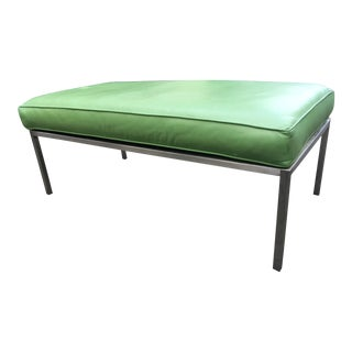 1970s Modern Mint Green Retro Bench- Doctors Office Style For Sale