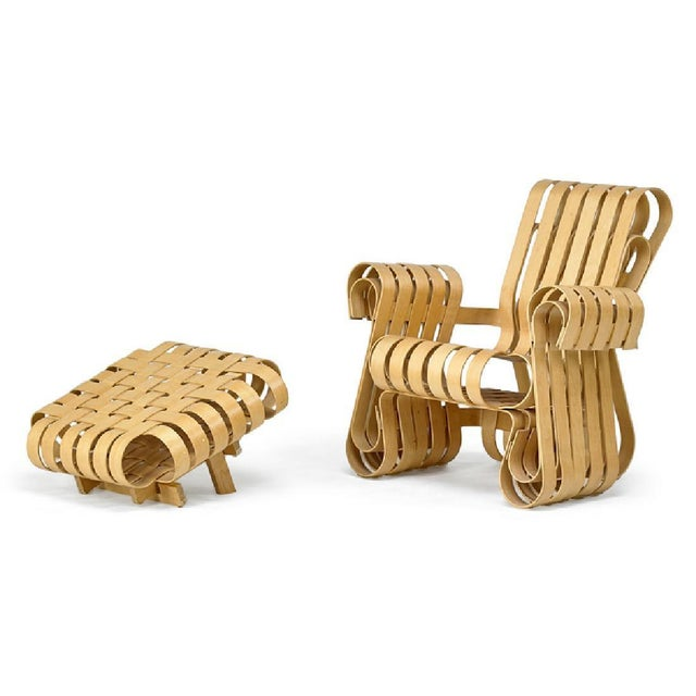 Frank Gehry for Knoll Studio Power Play Chair and Ottoman For Sale In Pittsburgh - Image 6 of 6