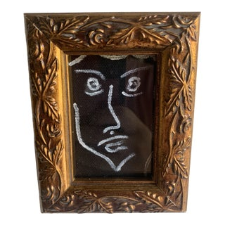 """Lauren Lameier """"Picasso Face"""" Contemporary Framed Painting For Sale"""