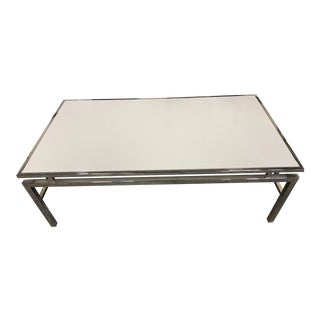 Century Furniture White Top Steel Coffee Table For Sale