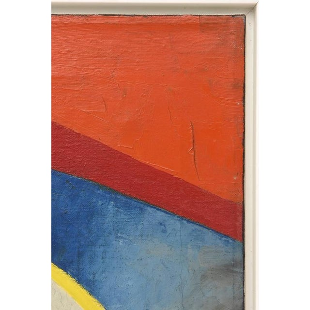 Wood Signed Philip Perkins Vintage Cubist Painting For Sale - Image 7 of 9