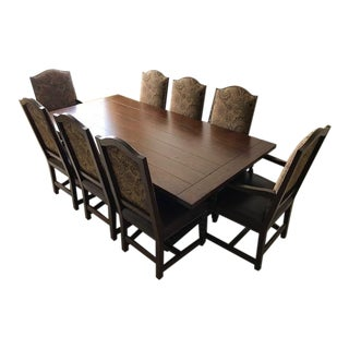 Stickley Redwood Table & Chairs Dining Set