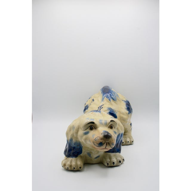 Staffordshire Style Puppy Figurine For Sale - Image 4 of 6