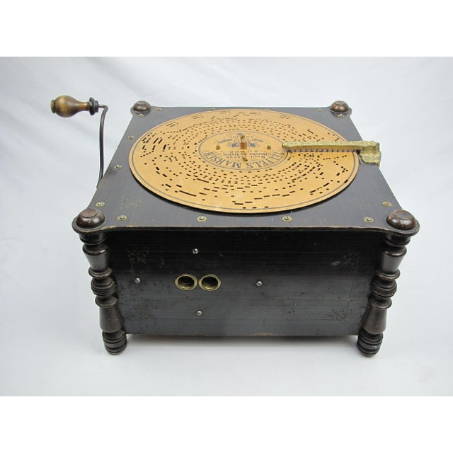Late 19th Century Ariston Organette Music Box Player With Punched Paper Records For Sale - Image 5 of 10