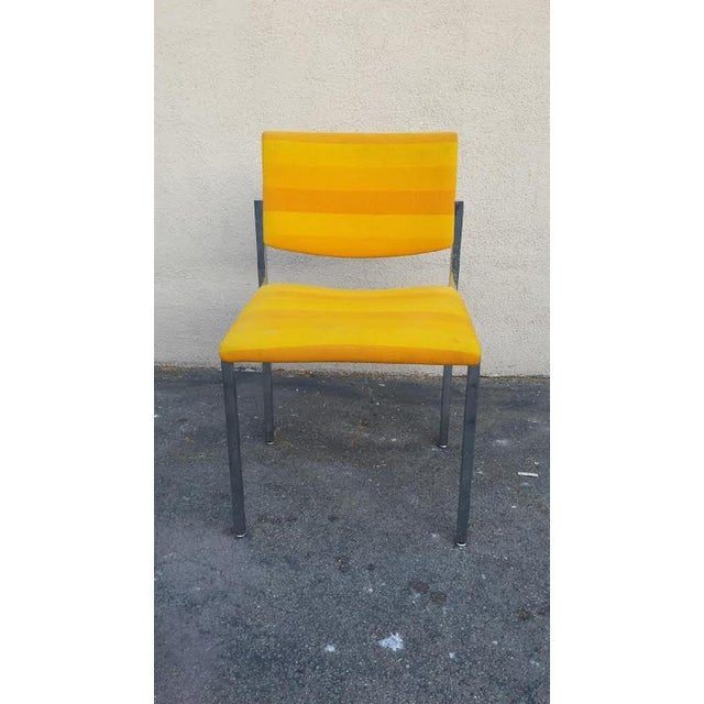 Steelcase Yellow Mid-Century Style Arm Chair - Image 2 of 5