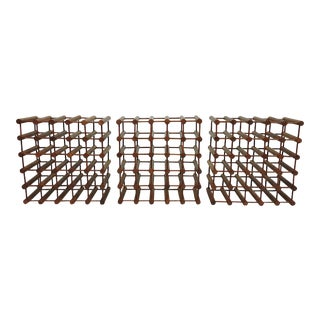Large Nissen Langaa Danish Modern 25 Bottle Teak Wine Rack Holders For Sale