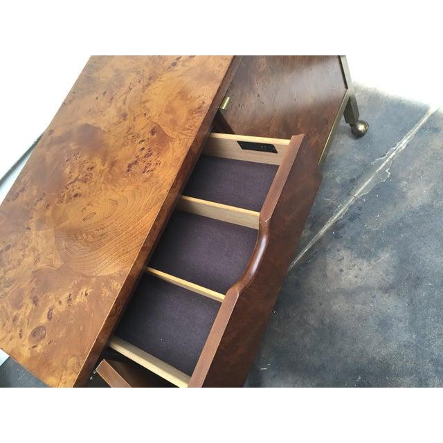 Tomlinson Burl Wood Bar Cart For Sale - Image 10 of 13