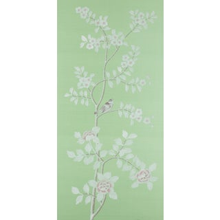 """Ambleside"" Jardins en Fleur Chinoiserie Diptych Paintings on Silk - 2 Pieces Preview"