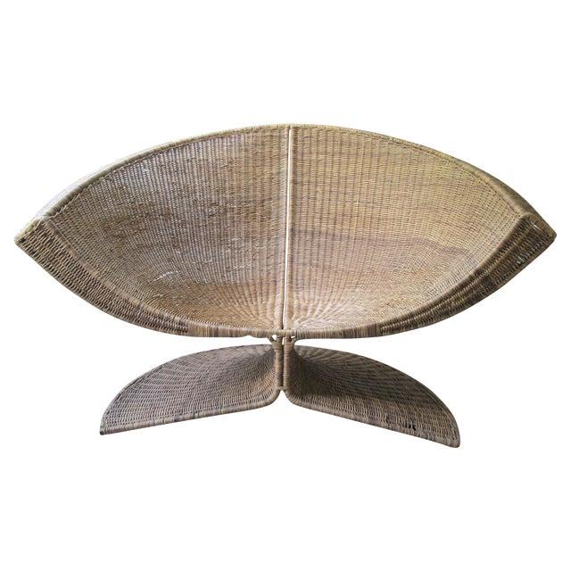 Miller Yee Fong Lotus Chair: 1960s Wicker Lounge - Image 1 of 11