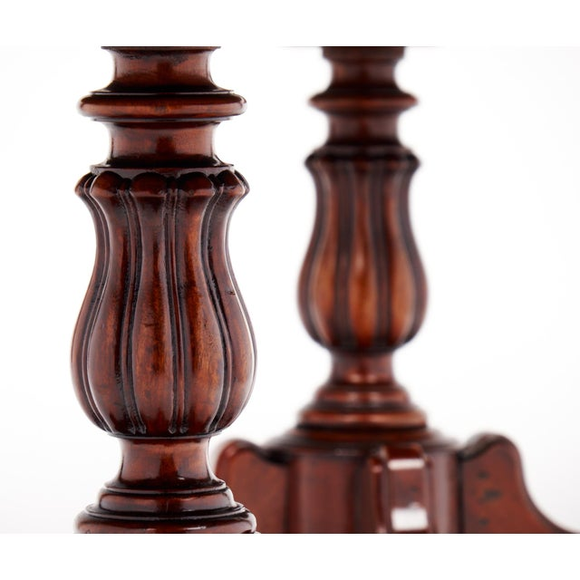 Brown Antique Faux Louis Philippe Side Tables - A Pair For Sale - Image 8 of 10
