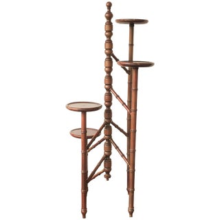 Victorian Mahogany Torchere Candelabra or Candlestand For Sale