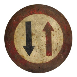 French Two Way Traffic Sign