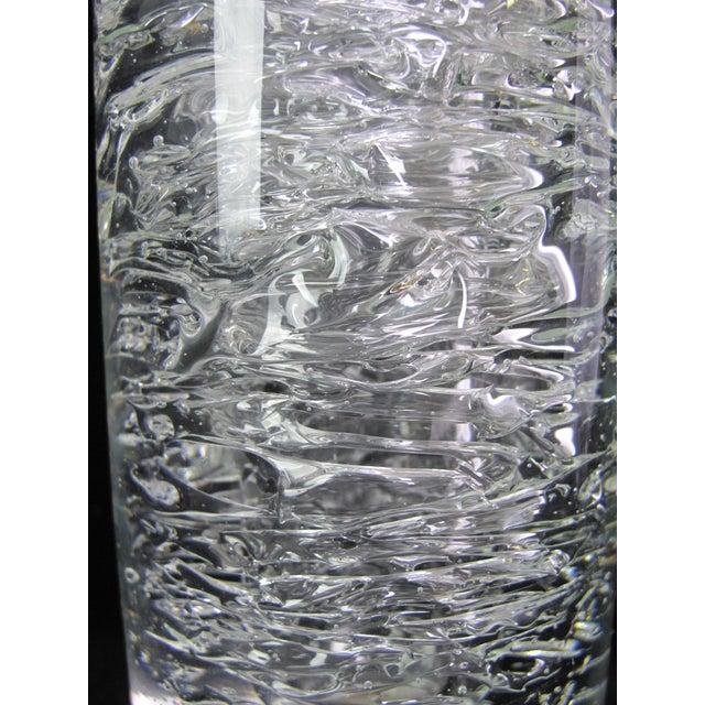 Modern Vintage Mid-Century Modern Frantisek Vizner Studio Bohemian Czech Crystal Vase For Sale - Image 3 of 5