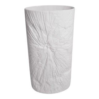 Modernist Oval White Bisque Vase by Martin Freyer For Sale
