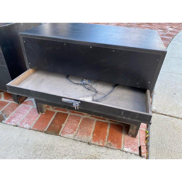 1990s Ldc Design Studio Side Tables-Zebra Wood For Sale In Los Angeles - Image 6 of 8