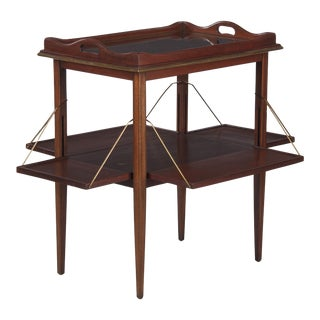 1920s French Neoclassical Mahogany Tea Table For Sale