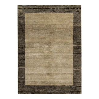 Contemporary Hand Woven Rug - 4'8 X 6'8 For Sale