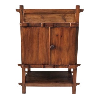 Handmade Teak Indonesian Cabinet For Sale