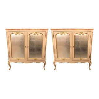 Louis XV Style Marble-Top Commodes or Nightstands - A Pair