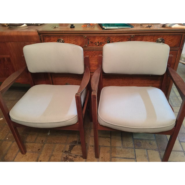 Danish Modern Armchairs - A Pair - Image 5 of 5