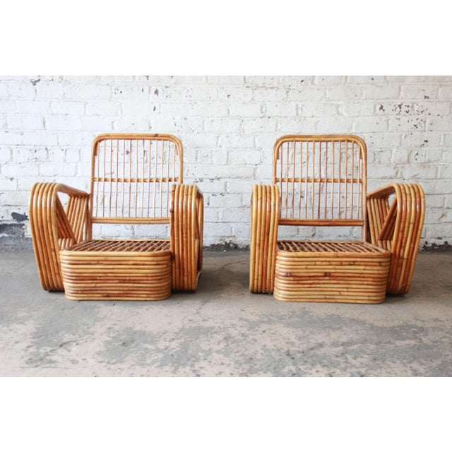 Bamboo Pretzel Chairs Attributed to Paul Frankl - A Pair For Sale In South Bend - Image 6 of 10