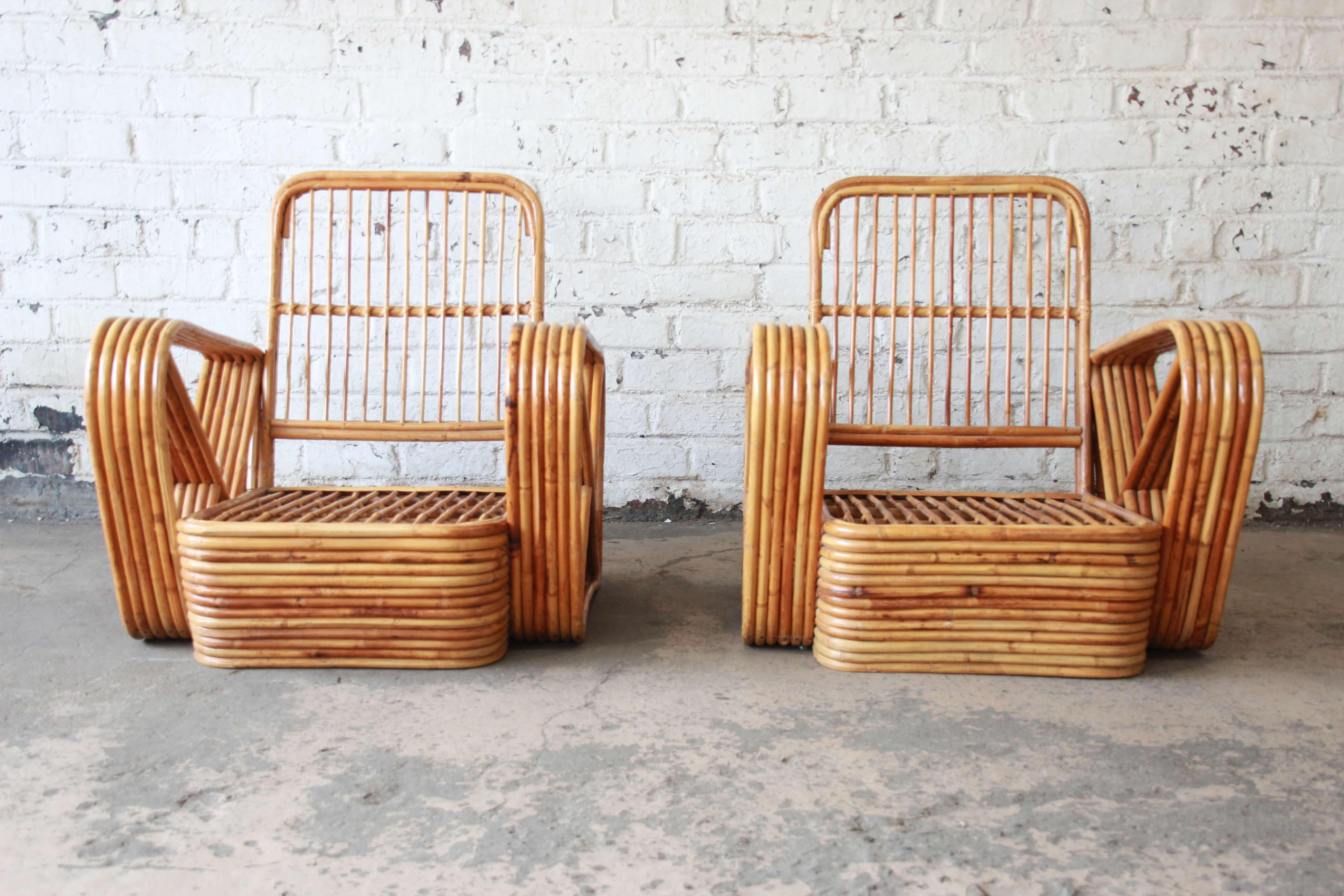 Bamboo Pretzel Chairs Attributed To Paul Frankl   A Pair   Image 6 Of 10