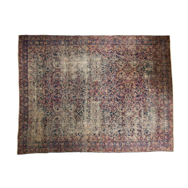 "Vintage Yezd Carpet - 9'2"" X 11'9"" For Sale - Image 13 of 13"