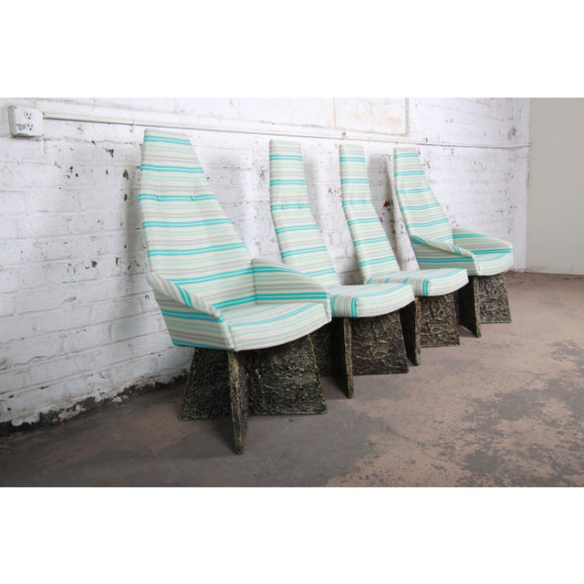 Adrian Pearsall Adrian Pearsall Mid-Century Brutalist High Back Dining Chairs - Set of 4 For Sale - Image 4 of 13