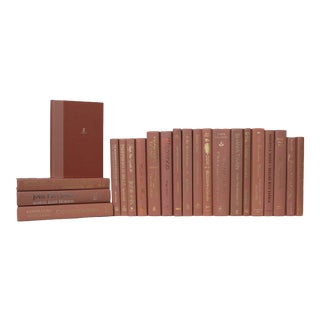 Rustic Pink Book Set - Set of 22 For Sale