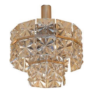 1960s Glass Chandelier For Sale