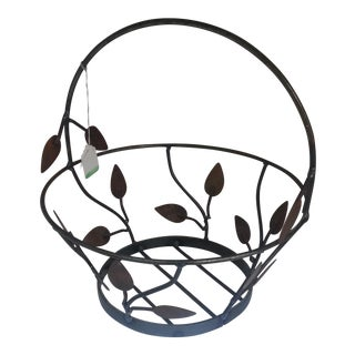 Metal Leaf & Stem Basket