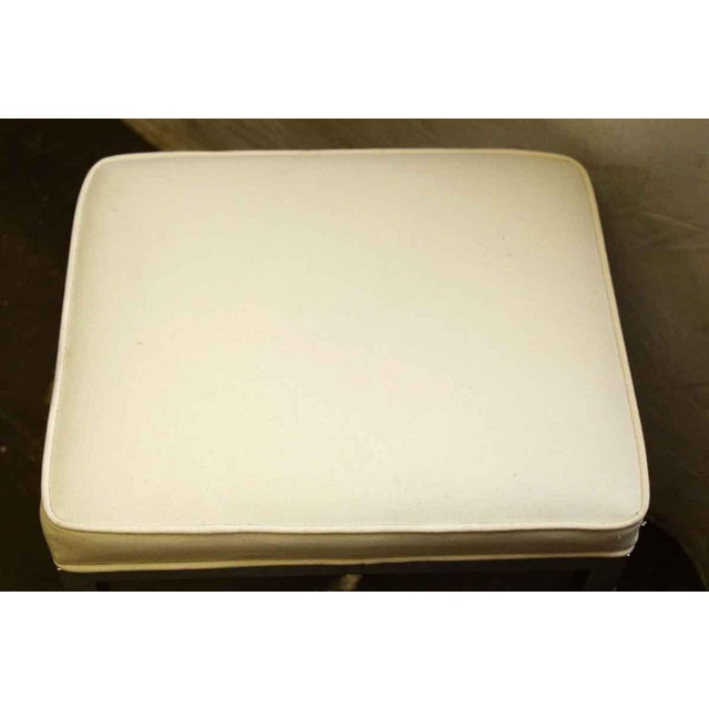 Antique White Square Stool For Sale - Image 5 of 5