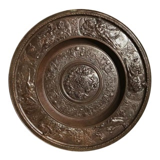 Baroque Style Cast Iron Charger with Mythological Scenes For Sale