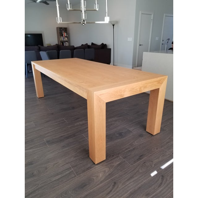 Oak Contemporary Mitchell Gold + Bob Williams Oak Dining Table For Sale - Image 7 of 7