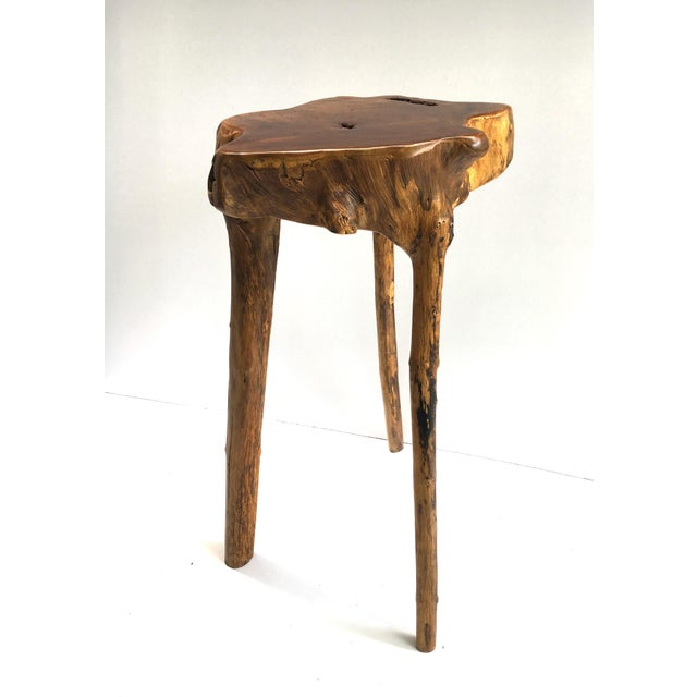 """Beautiful natural wood tree root made into a cool pedestal for that special displayed object. Top platform is 15""""x17"""""""