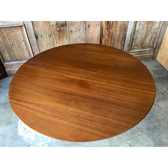 Brown Mid-Century Modern Eero Saarinen for Knoll Walnut Tulip Dining Table For Sale - Image 8 of 12