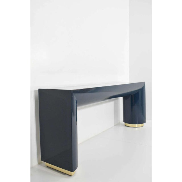 Jay Spectre or Karl Springer Style Console For Sale - Image 4 of 9