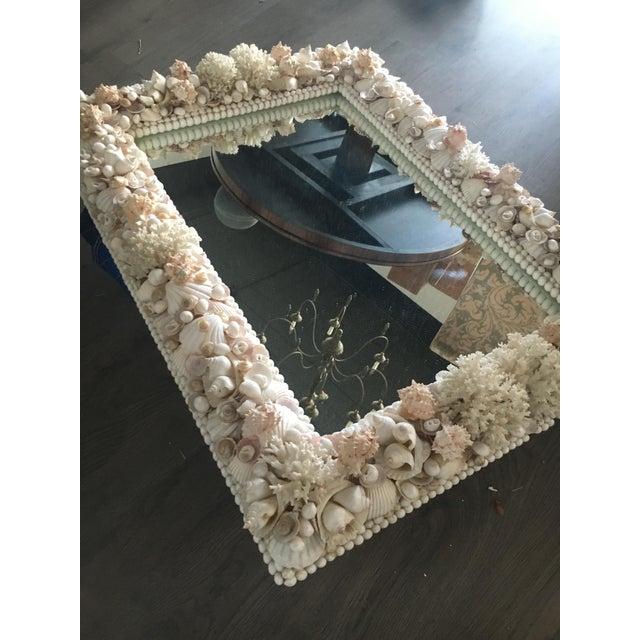 White Exceptional Grotto Mirror, Great Attention Paid to Detail From a Promenate Florida Estate. For Sale - Image 8 of 11