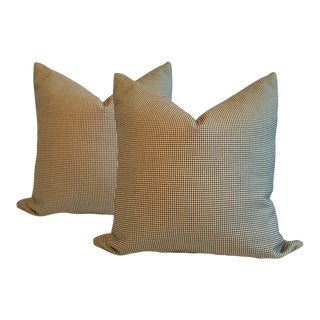 Cream Pillows With Black Dots - A Pair