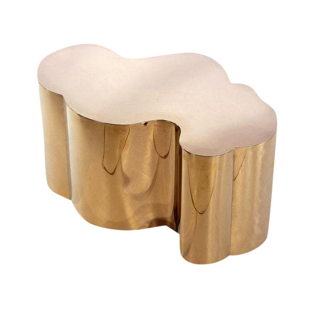 Contemporary Kate Modern Rose Gold Stainless Steel Coffee Table For Sale - Image 3 of 3