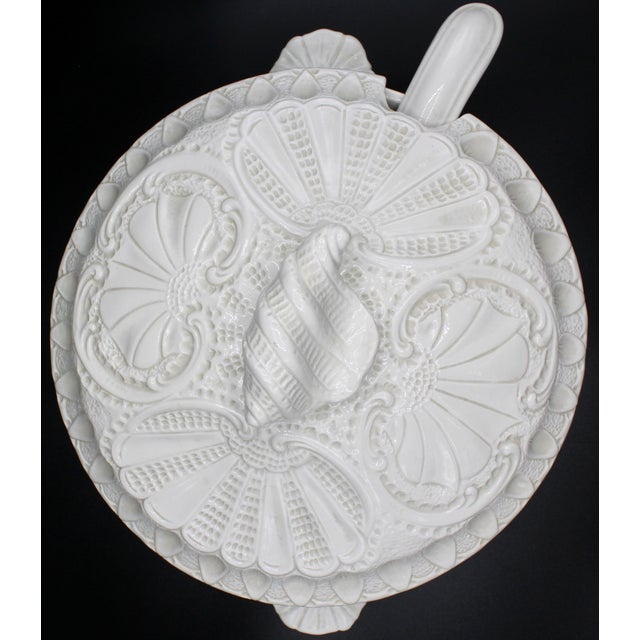 Large Italian Creamware Lidded Tureen With Ladle For Sale - Image 9 of 13