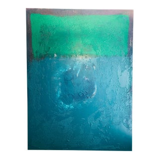 "Abstract ""Verde Oscuro Permanente"" Mixed Media Painting For Sale"