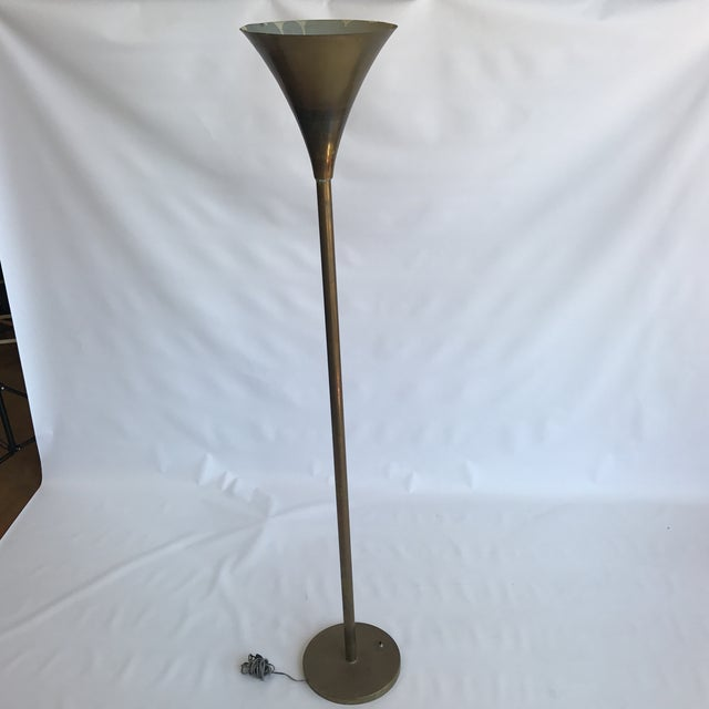 Vintage high quality torchiere floor lamp. The lamp is priced considering the wear and tear and patina which includes some...