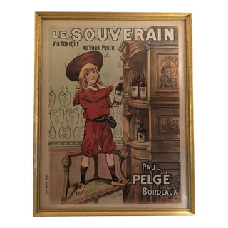 1895 Vintage French Poster Le Souverain (Newly Discounted!)