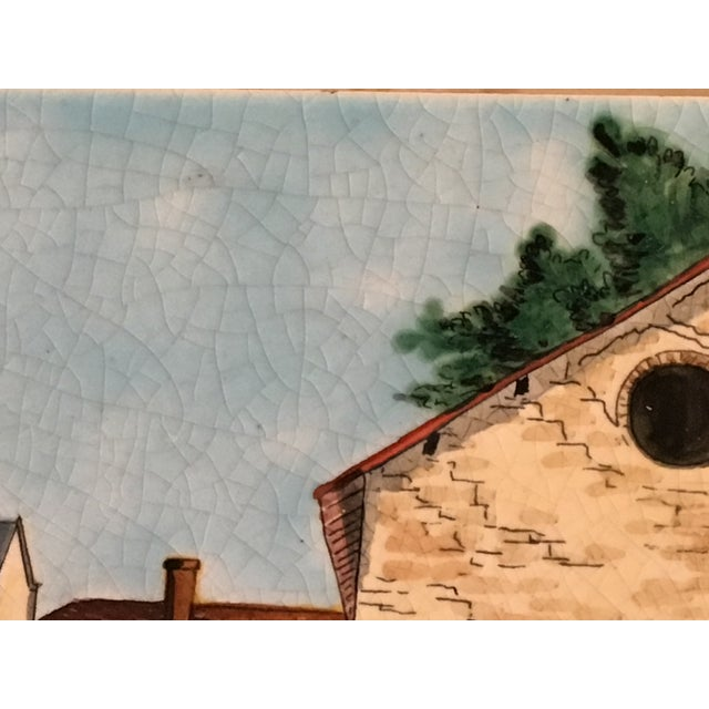 Longwy French Hand Painted & Signed Tile For Sale - Image 4 of 13
