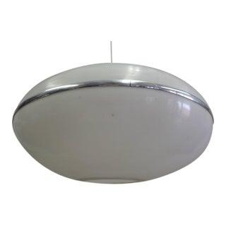 Very Large Italian Mid-Century Modern Saucer Form Chandelier / Pendant, 1970